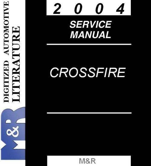 Product picture 2004 Crossfire Chrysler Zh , Service Manual
