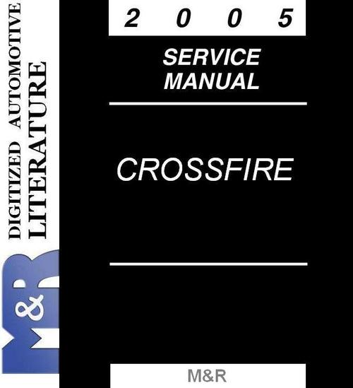 Product picture 2005 Chrysler Crossfire & Srt-6 Service Manual , version 6th