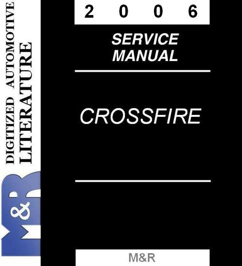 Product picture 2006 Chrysler Crossfire & Srt-6 Service Manual